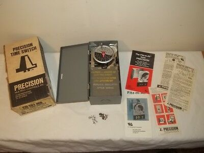 Vtg PRECISION TIME SWITCH MECHANICAL ELECTRIC TIMER 24 HR Single Pole Throw