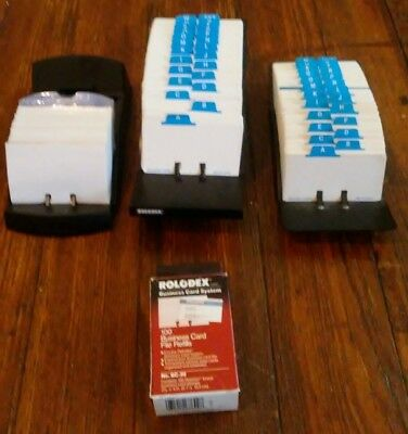 Lot of 3 Genuine Rolodex plus refill cards