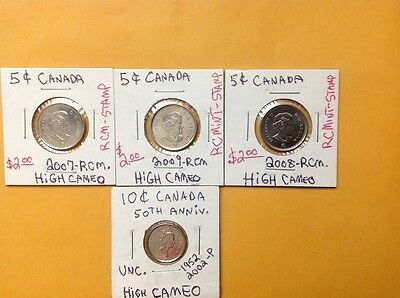 1 cent x66, 5 cents x16 and 10 cents Canadian Coin Lot. Must see.