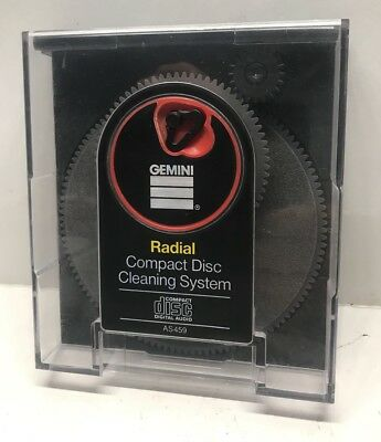 Vintage GEMINI Radial Compact Disc CD Cleaning Disc Cleaning System AS459