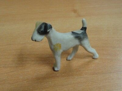 Vintage Porcelain Wire-Haired Fox Terrier Dog Sp 1840 Germany Figurine