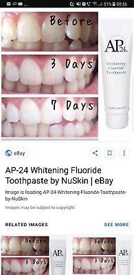 Two Nu Skin AP-24 Whitening Fluoride Toothpaste (No peroxide) - New Stock!