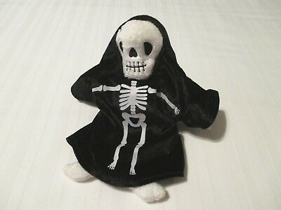 "9"" TY Beanie Babies Creepers the Halloween Skeleton Plush Toy All Tags EC 2001"