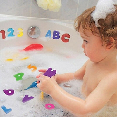 US 36x Toddler A-Z 0-9 Foam Letters Numbers Floating Baby Kids Bath Stick Toys G
