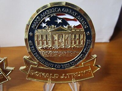 President Donald Trump White House (NO NUMBER) POTUS Challenge Coin
