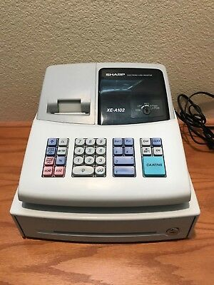 sharp xe a120 cash register no keys no keys 57 20 picclick rh picclick com Office Depot Sharp Cash Register Sharp ER A347