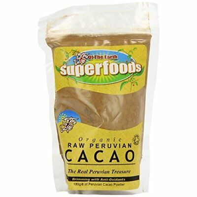 Of The Earth Superfoods Cacao Powder Organic 180 g(Pack of 2)