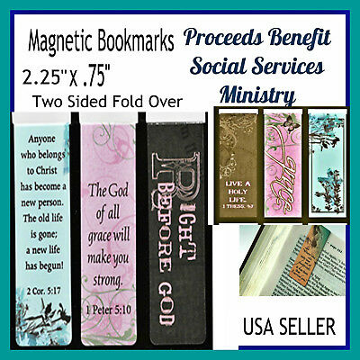Christian Magnetic Bookmarks Classic Bible Verses, God of Grace, Set of 3