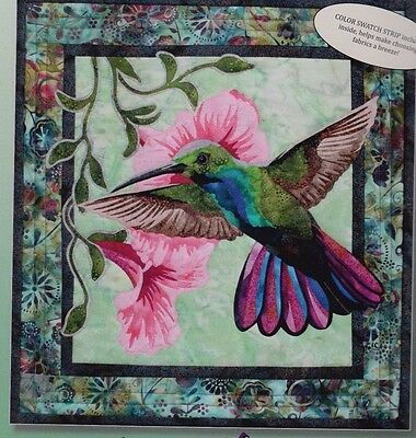 Hummingbird - raw edge applique wall quilt PATTERN - Toni Whitney