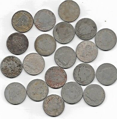 Rare Very Old USA Antique Liberty Nickel American Collection US Coin Invest Lot