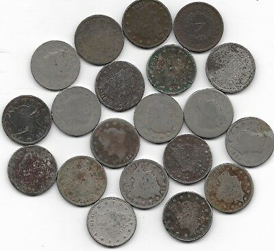Rare Very Old USA Antique Liberty Nickel American Collection US Coin Great Lot