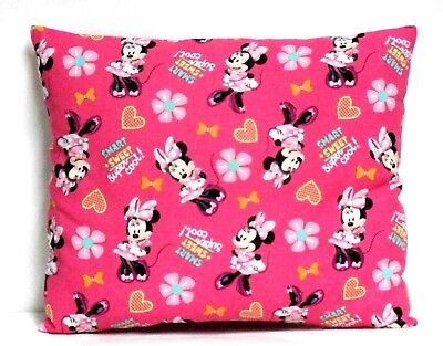 Minnie Mouse Toddler Pillow on Pink Cotton M30-3 New Handmade