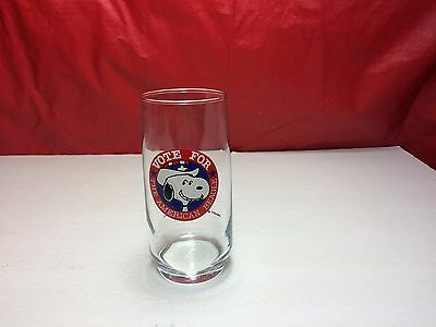 1958 United Feature Syndicate SNOOPY Vote For the American Beagle Glass 4 of 4