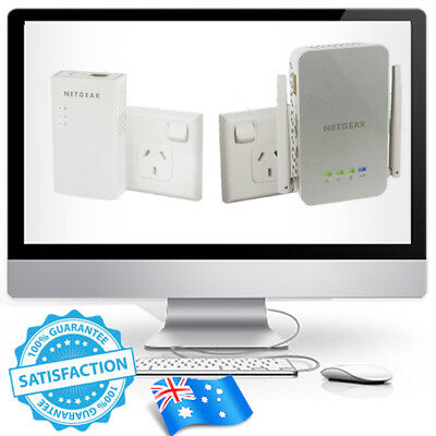 Netgear PLW1000 WIFI AC Extender Powerline Adapter LAN Kit Aus Version Wireless