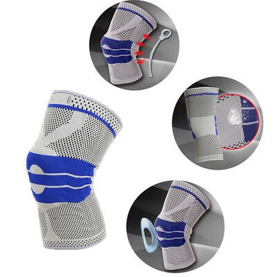 Contoured Full Knee Brace Strap Patella Medial Support Protector Silicone Gel HE
