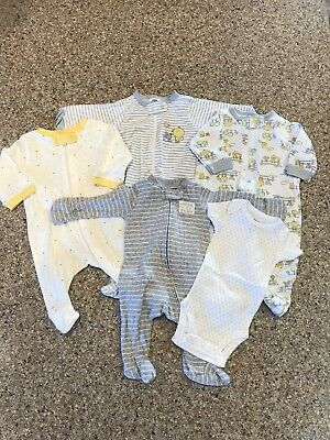 NWOT Newborn Unisex Baby Clothes-Lot Of 5- Mixed Brands