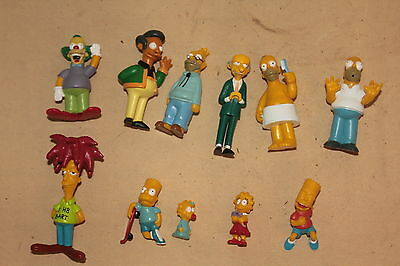 Lot Of 12 Simpsons Character Figure 1997 Fox Made In England 5526