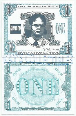 "One Schrute Buck - Motivational Tool - From the TV series ""The Office"""