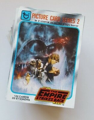 Star Wars Empire Strikes Back Series 2 Trading Card Complete Set - NM - 1980