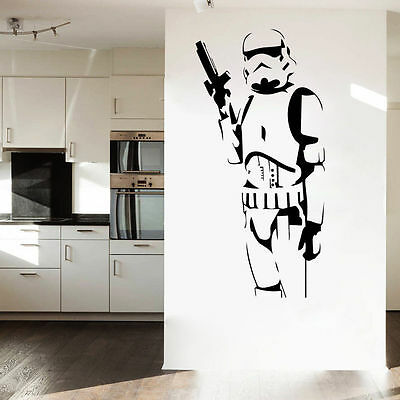 Star Wars Stormtrooper Mural Wall Art Sticker Vinyl Decals Kids Boys Room Decor
