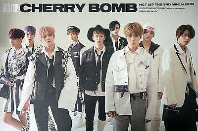 NCT 127 - NCT#127 CHERRY BOMB (3rd Mini) [Type-B] OFFICIAL POSTER wiht Tube Case