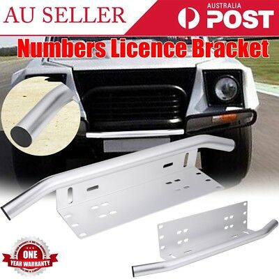License Number Plate Bullbar Frame For Driving Light Bar Mount Bracket AU Stock