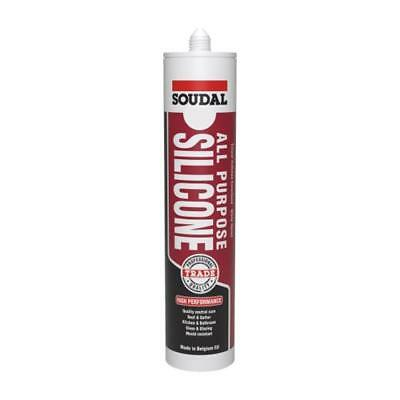 Qty 1 SOUDAL All Purpose Silicone 300ml TRANSLUCENT / CLEAR