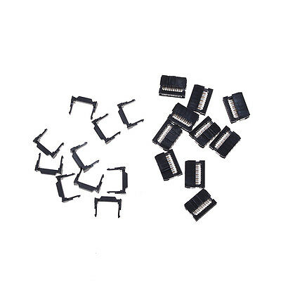 10x FC-10P IDC 2.54mm Connector Female Header 10pin 2x5 JTAG ISP Socket Black WL