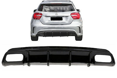 Valance Rear Diffuser For Mercedes W176 A-Class 2012-2018 A45 Facelift Black