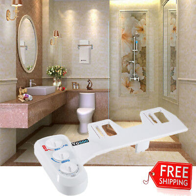 Fresh Water Spray Non-Electric Mechanical Bidet Toilet Seat Attachment Bathroom