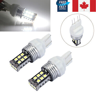 2X 12V White T20 7443 7440 15 Led Dual Filament Car Brake Stop Tail Light Bulb