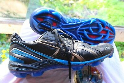 ASICS ~ Cell Lethal /So Light Footy Boots Blue & Black Lace-up   US 10... 27 cm