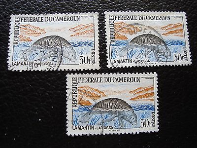CAMEROON - stamp yvert and tellier n° 352 x3 obl (A01) stamp (A)