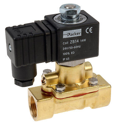 "Parker 169.1 G1"" 2/2 Way Normally Open Diaphragm Pilot Operated Solenoid Valve"