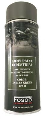 Bombe De Peinture Militaire Spray Fosco 400 Ml Indian Green Wwii