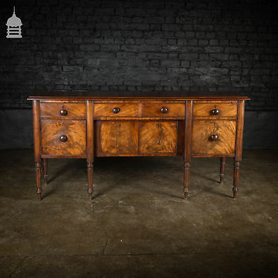 Regency Mahogany Sideboard with Tapering Fluted Legs