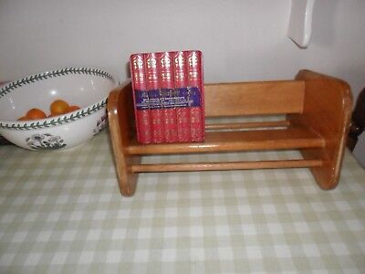Vintage Dual Purpose Wooden Book Shelf / Trough ( Needs Some restoration)