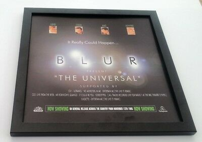 BLUR The Universal FRAMED ORIGINAL SHOP PROMO DISPLAY