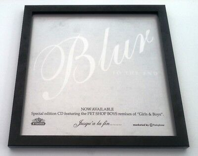 BLUR To The End FRAMED ORIGINAL SHOP PROMO DISPLAY