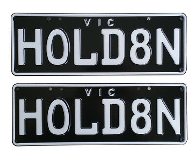 Custom Number Plates Personalised Number Plates with GMH Covers - HOLD8N