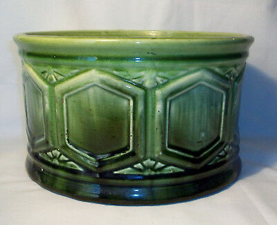 Vintage 1930's Brush Pottery Blended Glaze Fern Dish