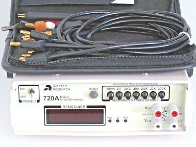 Amptec Research 720A Digital Micro-Ohmmeter Ohmmeter Kelvin 4-Wire Ohm