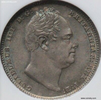 1831 Sixpence  graded and slabbed NGC MS65