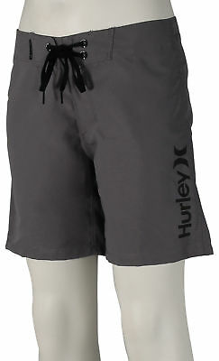 Hurley Boy's One and Only Supersuede Boardshorts - Cool Grey / Black - New