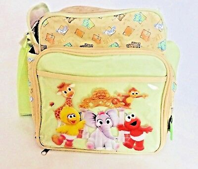 Vintage Sesame Street Beginnings Bird Elmo Baby Bottle Diaper Bag