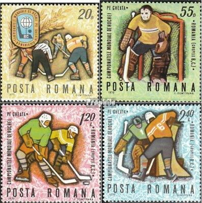 Romania 2820-2823 (complete issue) unmounted mint / never hinged 1970 Hockey-WM