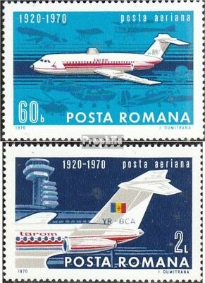 Romania 2840-2841 (complete issue) unmounted mint / never hinged 1970 Civil Avia