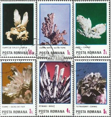 Romania 4202-4207 (complete issue) used 1985 Minerals