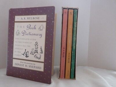 "Pooh Dictionary Plus Three Books in ""A Treasury of Winnie the Pooh"" - Used"