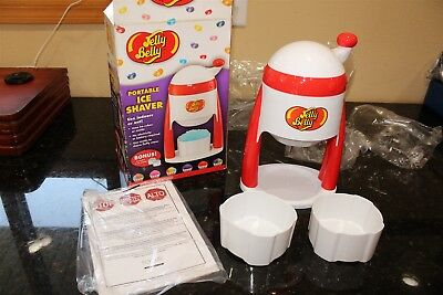 Jelly Belly Portable Ice Shaver Machine Original Box with Instructions